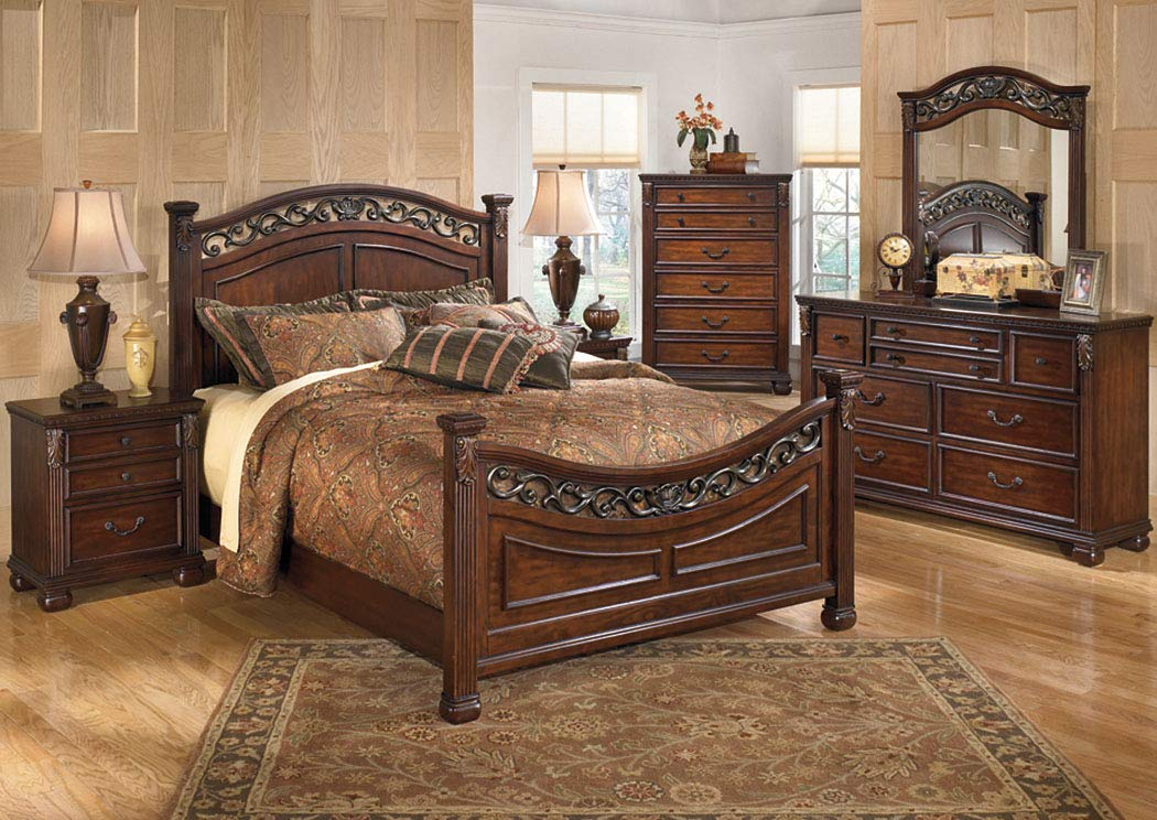 Amazing Buys Leahlyn Bedroom Set by Ashley Furniture - Includes Queen Bed, Dresser, Mirror and 2 Night Stands by Amazing Buys