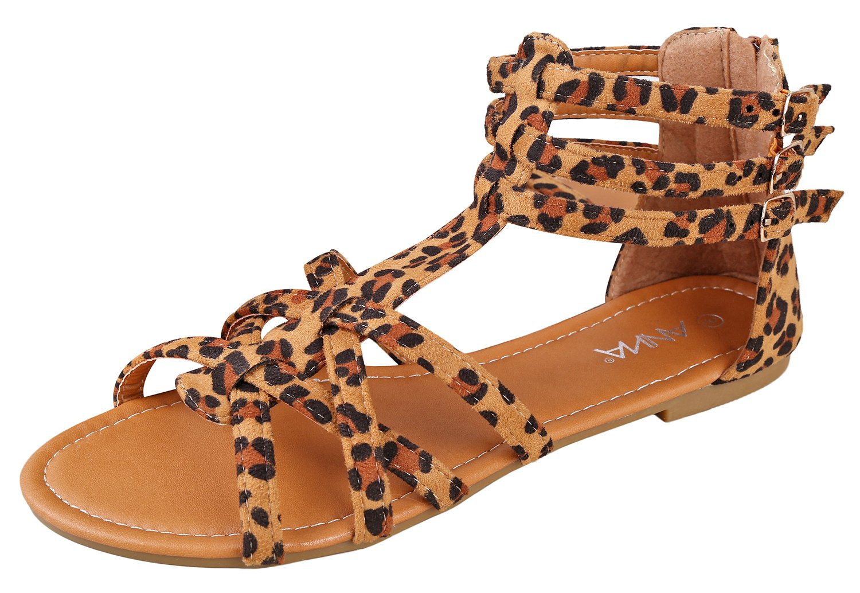 2d472ecf9db8 Galleon - ANNA Mavis-7 Women Buckle Zip Gladiator Sandal