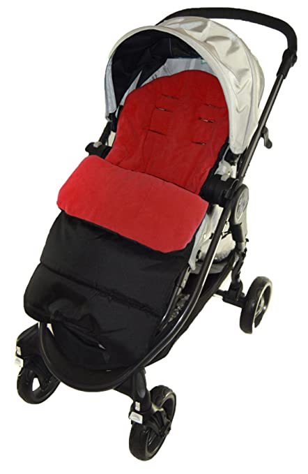 Saco/Cosy Toes Compatible con Jane Rider Pushchair Fire rojo