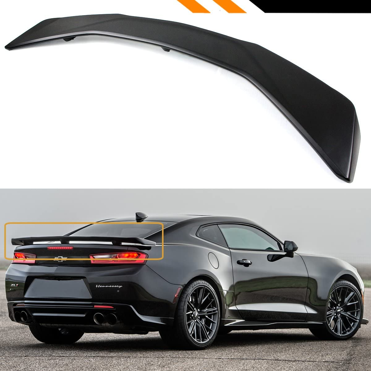 PAINTED ALL COLORS CHEVROLET CAMARO FACTORY STYLE SPOILER 2016-2018