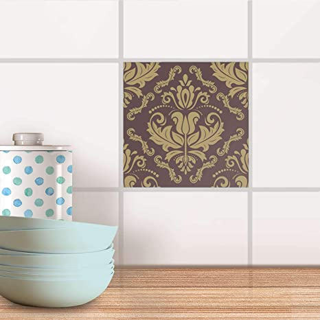 creatisto Fliesen-Sticker Aufkleber Folie selbstklebend I Stickerfliesen  Dekorationsaufkleber Bad renovieren Küche Deko Bad I 10x10 cm Design Motiv  ...