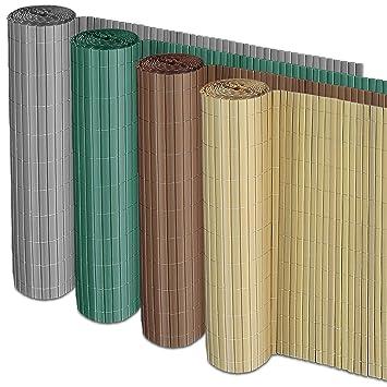 casa pura Sichtschutz Zaun für Außenbereich | grau | für Balkon, Terrasse  und Garten | Größe wählbar (150x300cm)