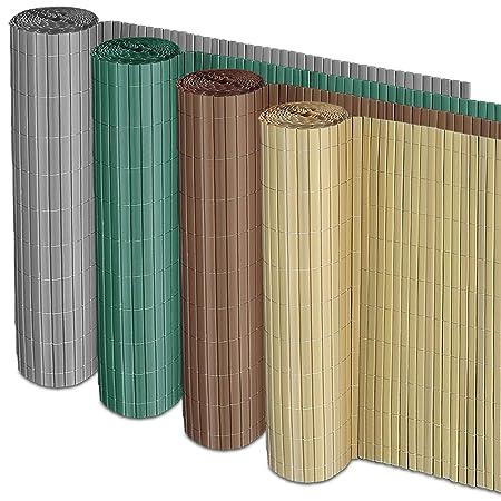 casa pura Sichtschutz Zaun für Außenbereich | grün | Größe wählbar (150x500cm)