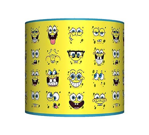 Spongebob squarepants ceiling lampshade 10 drum boys girls spongebob squarepants ceiling lampshade 10quot drum boys girls bedroom lamp shade aloadofball Choice Image