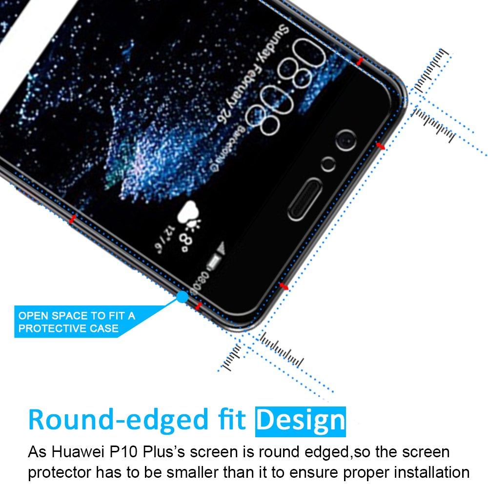 iVoler [2 Unidades] Protector de Pantalla para Huawei P10 Plus, Cristal Vidrio Templado Premium: Amazon.es: Electrónica