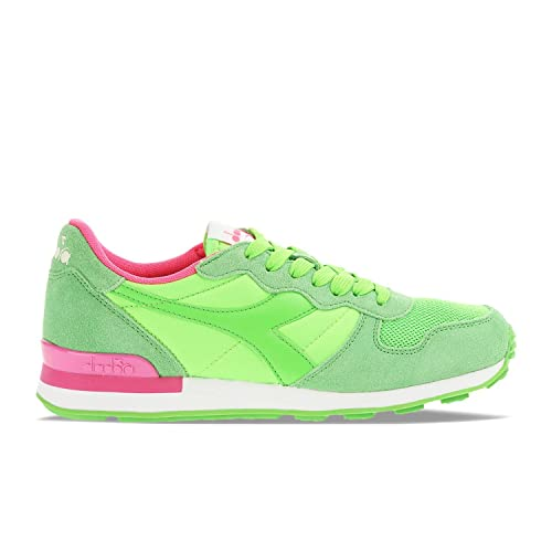DIADORA Camaro sneakers running TESSUTO PELLE PINK GREEN FLUO C6108 36   Amazon.it  Scarpe e borse 997876619be