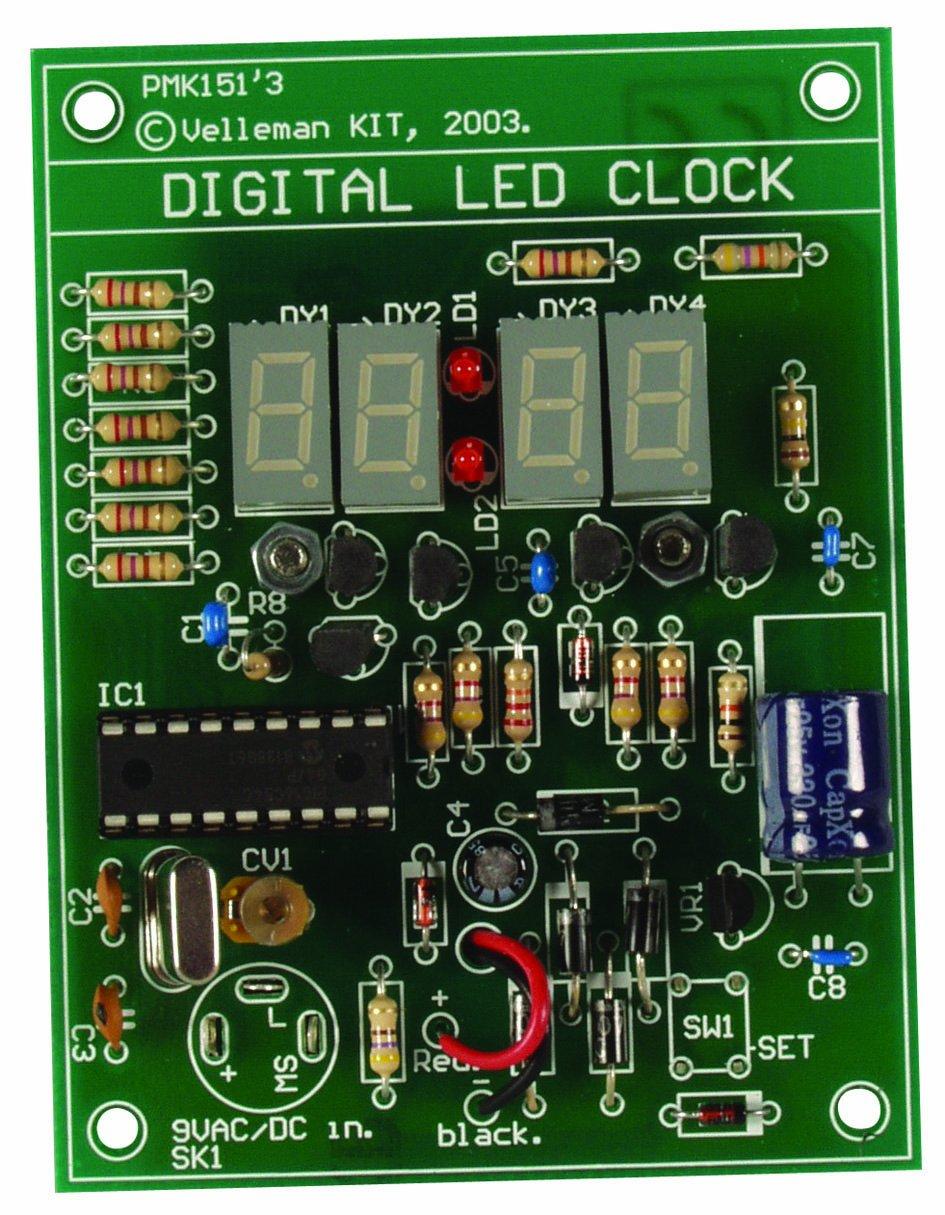 Velleman Mk151 Digital Led Clock Multicolored Circuit Business Industry Science