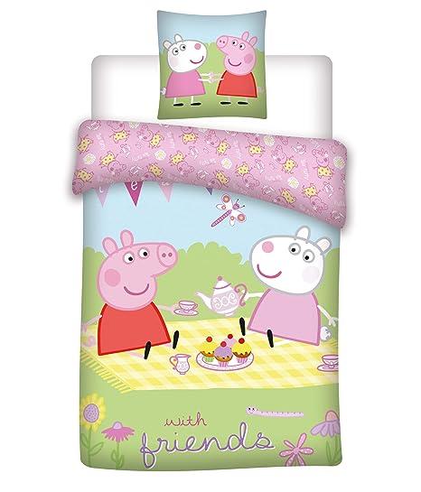 rosa Best Friends Rosa Talla:100x135 cm 40 x 60 cm Tama/ño: 100 x 135 cm 2 piezas 100/% algod/ón 40x60 cm Juego de ropa de cama para beb/é certificado /ÖkoTex Standard 100