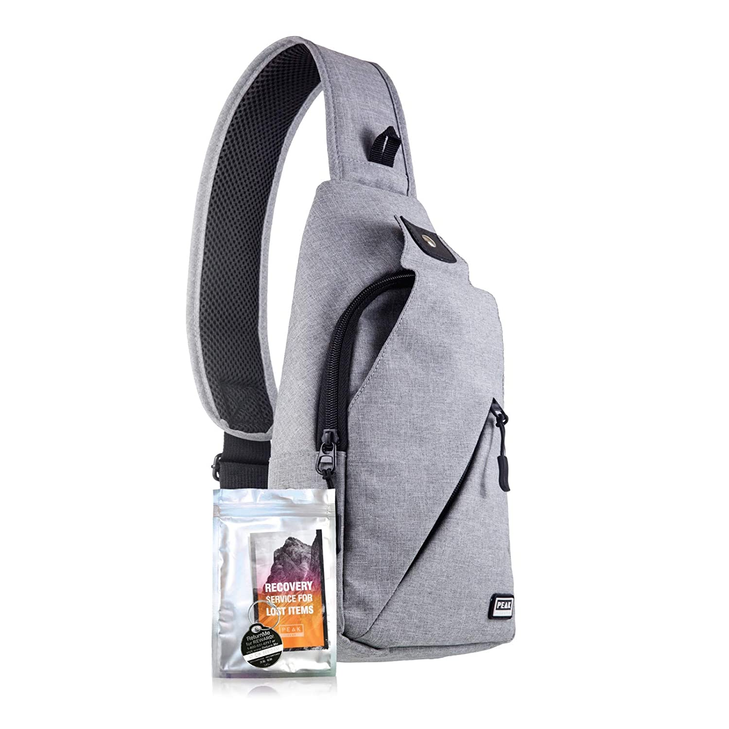 Peak Gear Sling Compact Crossbody Backpack and Day Bag – w Lifetime Lost Found ID