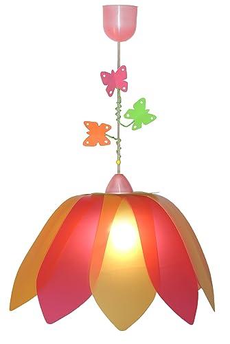 70460 Waldi Leuchten Pendelleuchte 0 Wal SchmetterlingOrangepink Blüte bm6vI7Yfgy