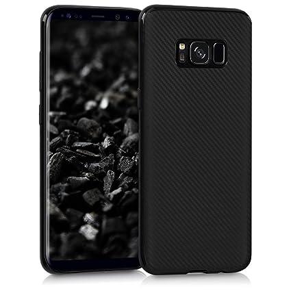 kwmobile Funda para Samsung Galaxy S8 - Carcasa de [TPU] para móvil y diseño de Carbono en [Negro]