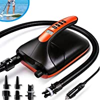 20PSI High Pressure SUP Electric Air Pump ,Dual Stage Inflation Paddle Board Pump for Inflatable Stand Up Paddle Boards…