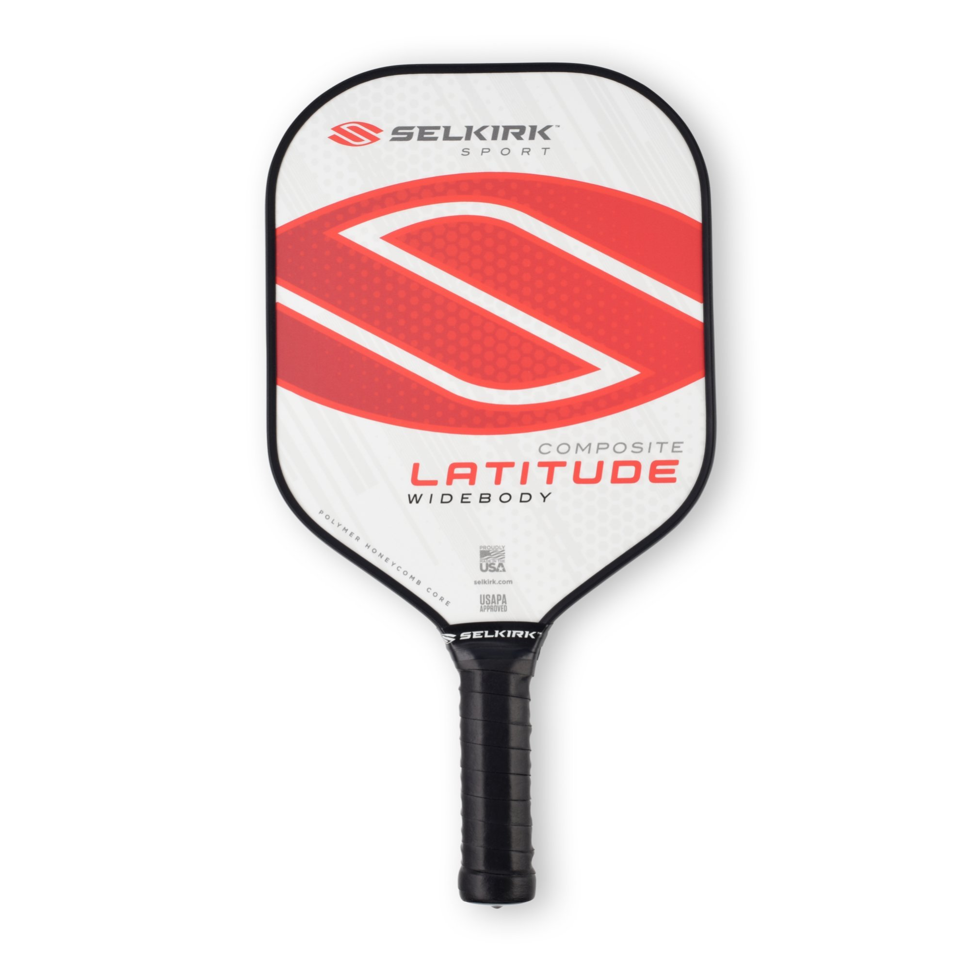 Selkirk Latitude Widebody Composite Pickleball Paddle - USAPA Approved - PowerCore Polymer Core - PolyFlex Composite Surface - EdgeSentry Protection - ThinGrip Handle (Red Force) by Selkirk Sport