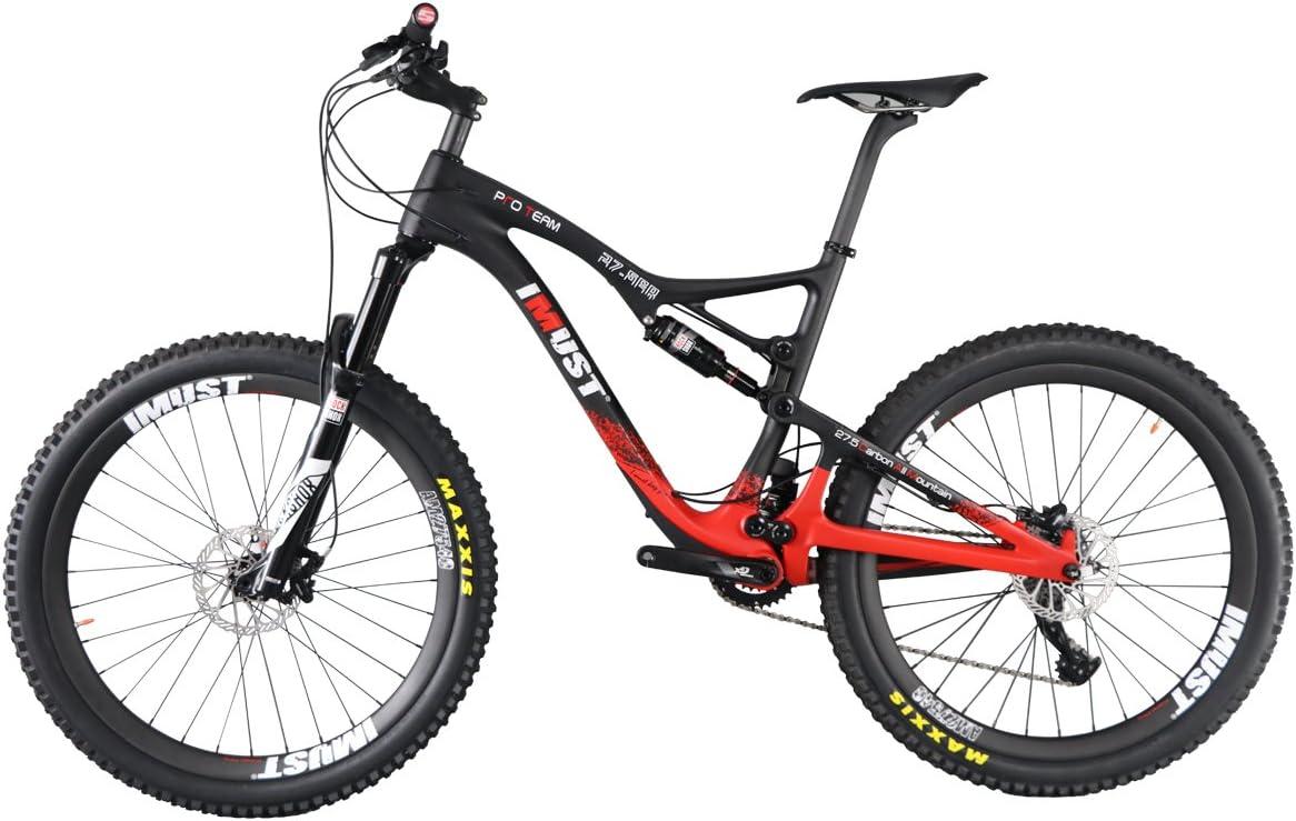 IMUST-Bicicleta de Fibra Carbono Para AM Mountain Xtreme 7 27.5 er Peso ultraligero/Carbon All Mountain Bike 27.5ER: Amazon.es: Deportes y aire libre