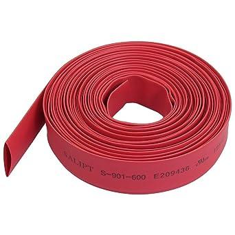 6metres 6mm Red Heatshrink Tube Sleeve 2:1 Shrink Ratio
