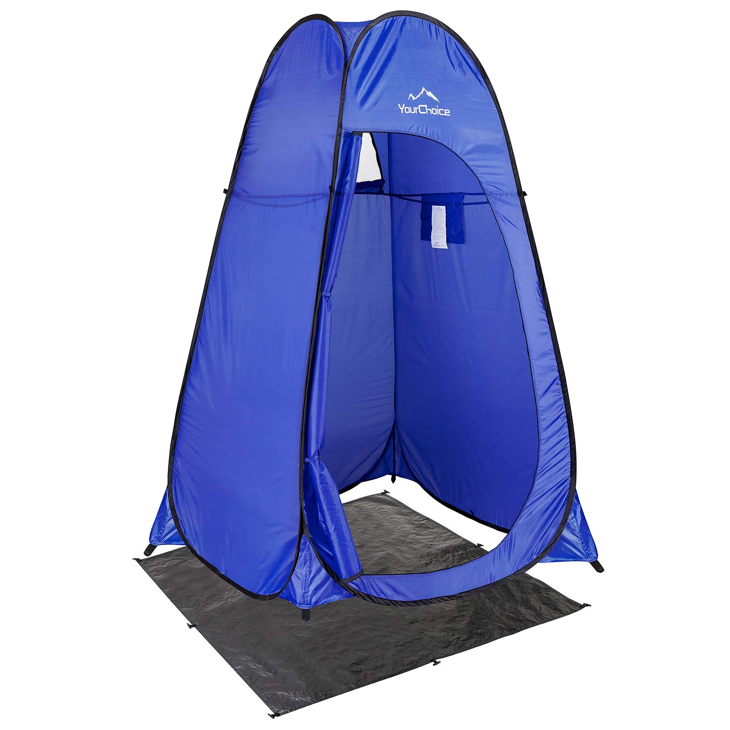 Your Choice Pop Up Tent, Portable Shower Toilet Changing Room Privacy Tent for Camping, Beach, Outdoor and Indoor - Color Blue by Your Choice
