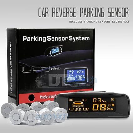 Car Front Rear Reversing Parking 8 Sensors Radar Buzzer Alarm System Kit
