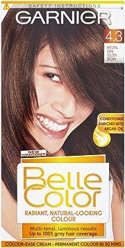 Belle color natural 4.3 Oscuro Dorado Marrón permanente tinte de pelo