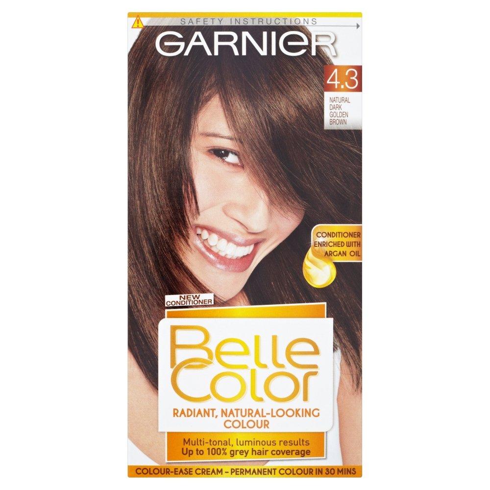 Garnier olia permanent hair colour golden brown 5 3 - Belle Color 4 3 Natural Dark Golden Brown Permanent Hair Dye Amazon Co Uk Beauty