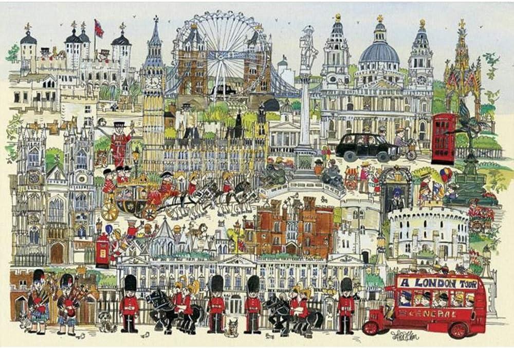 4000個大きな木製ジグソーパズル、教育玩具、印象ロンドン、大人のための逃がしストレス教育パズル玩具や子供のギフト106x148CM