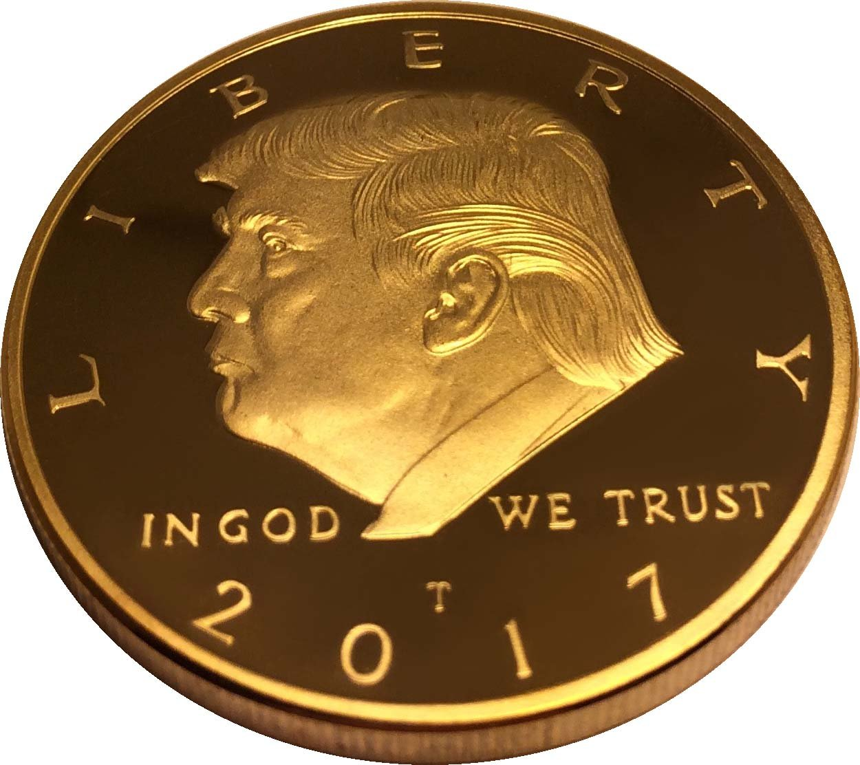 Donald Trump Gold Coin Gold Plated Collectable Coin And Case Included 45th President