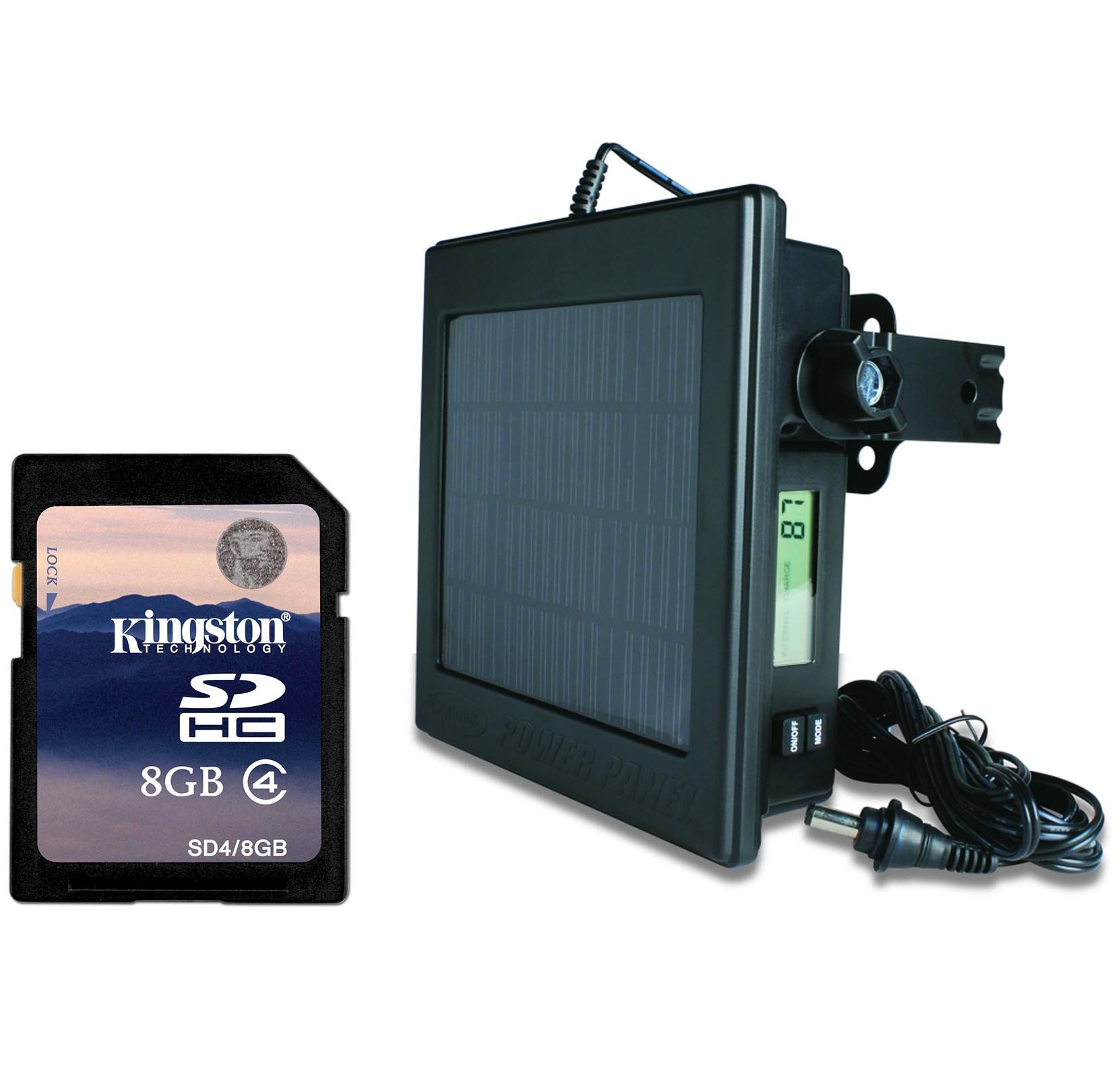 NEW! MOULTRIE FEEDERS Game Camera 12 Volt Solar Power Panel + 8GB SD Memory Card by Moultrie