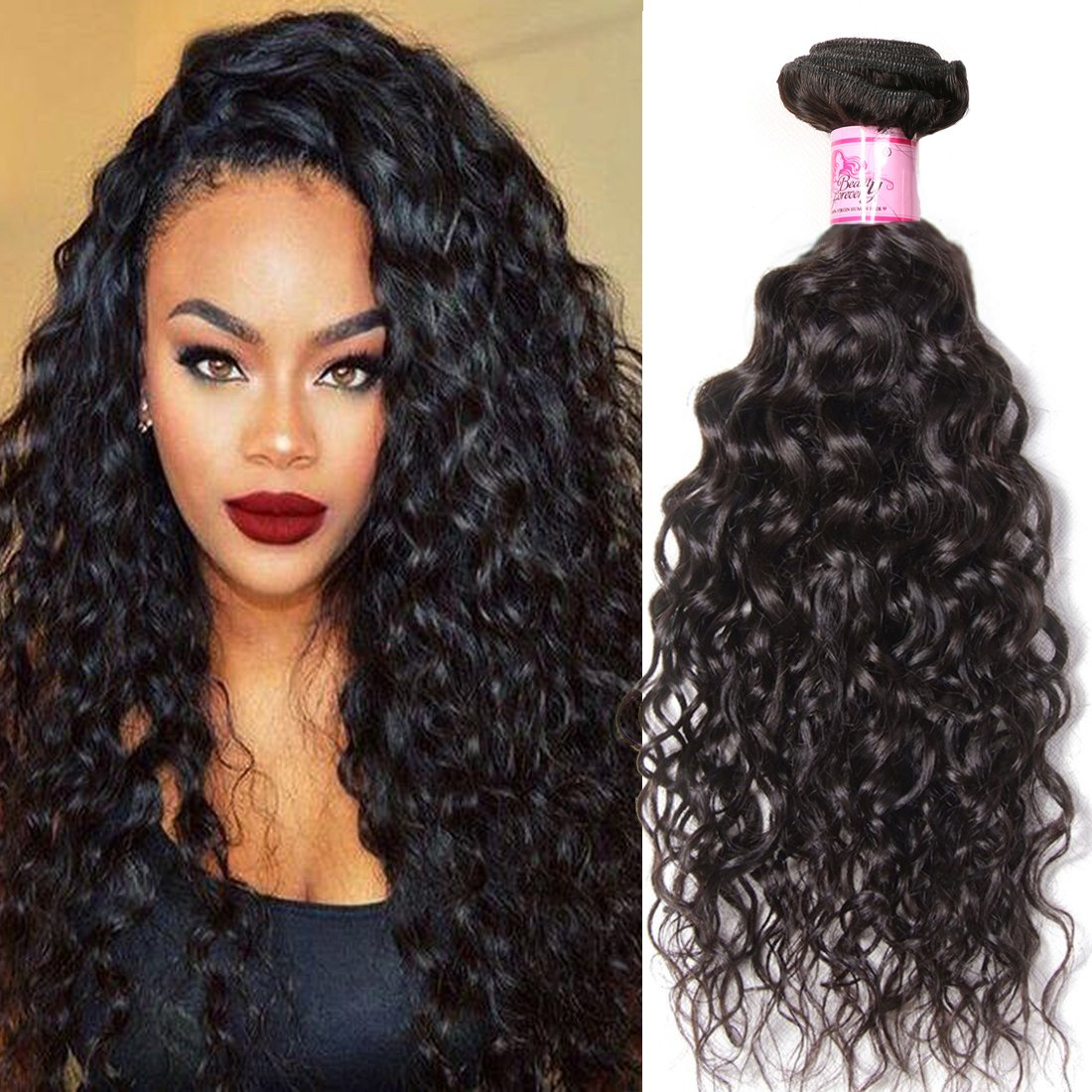 Amazon Beauty Forever Brazilian Water Wave Hair 1 Bundle Wavy