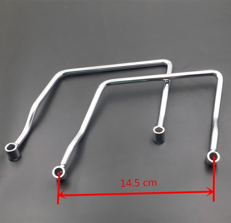 16.5 cm Saddle bag Support Bar Mount Bracket For Honda Shadow ACE VT VT400 VT750 16.5cm
