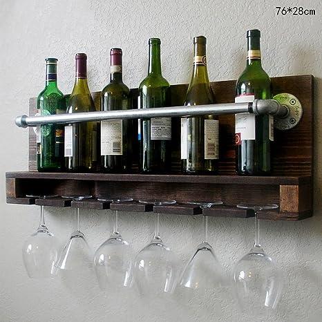 FAFZ-Porta vasos de champán, estante de vino Estante para vino Nordic Retro Madera de pino ...