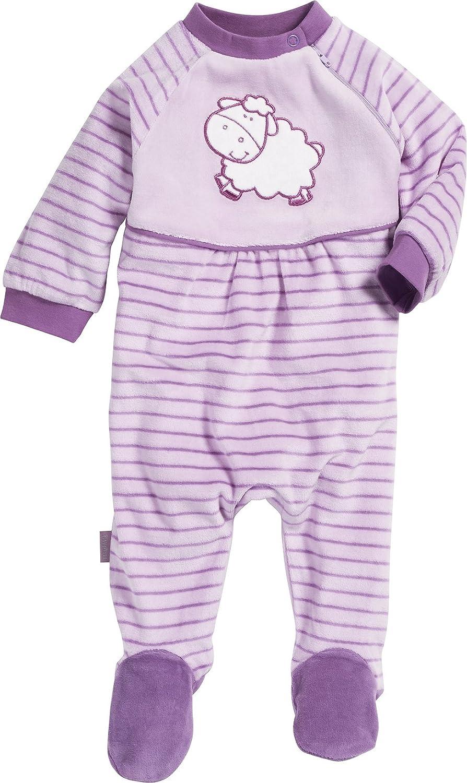 Playshoes Baby-M/ädchen Schlafoverall Nicki Katze Schlafstrampler