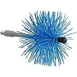 Saturnia 22020710 22020710-Deshollinador Cepillo, 120 mm, Azul 21x13x13 cm