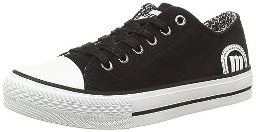 MTNG Bamba Chica - Zapatillas de Deporte Unisex, Color Canvas Negro, Talla 38: Amazon.es: Zapatos y complementos