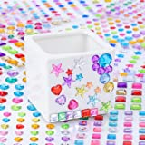 Antner 704pcs Self-Adhesive Craft Gems Sticky