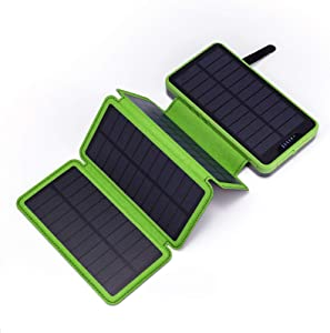 Solar Power Bank, Miady Camping Phone Charger 25000mAh Dual Output, External Battery Pack for iPhone, Samsung Galaxy, Android Phone and More …
