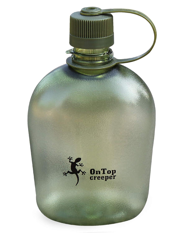 OnTopcreeper 1リットル / 34オンス BPAフリー 水ボトル ハイキング バックパッキング 旅行用 B07FTJYN93 アーミーグリーン 1L