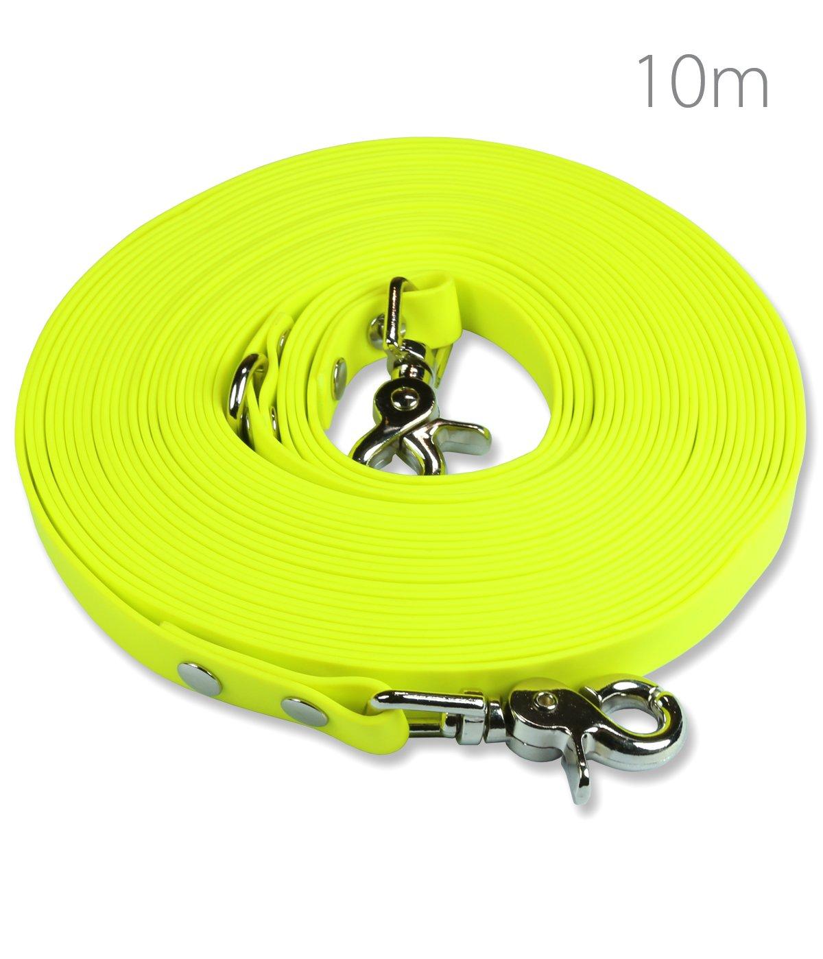 SNOOT Schleppleine 10m - zugfeste, schmutz- und Wasserabweisende Hundeleine mit Zwei Karabiner und D-Ring product image
