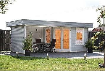 Wolff Finnhaus Nina 28-B - Caseta de esquina con terraza: Amazon.es: Jardín