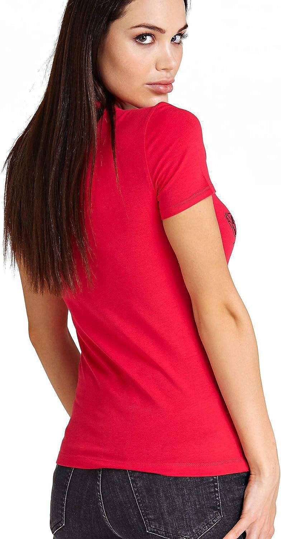 Guess Tee Shirt Stretch avec Logo W83i29 Jeans