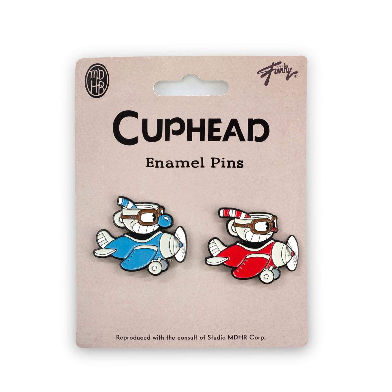 Cuphead /& Mugman Collector/'s Edition Planes Enamel Pin Set Red
