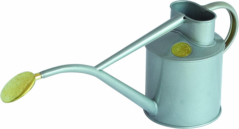 Bosmere Haws Intérieur en métal 2-pint/1-liter Arrosoir avec Rose et boîte Cadeau Titane