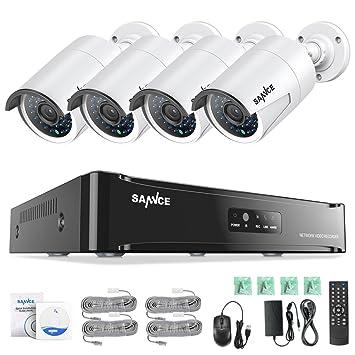 [1920 * 1080P HD] SANNCE Kit Sistema de 4 Cámaras de Vigilancia Seguridad (Onvif H.264 ...