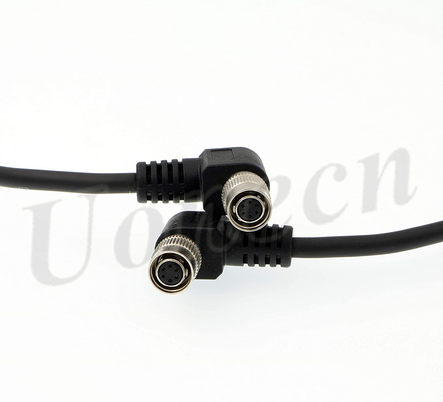Uonecn Power Cable for Basler GIGE AVT CCD Camera Right Angle 6 pin Hirose Female to Right Angle 6 pin Female