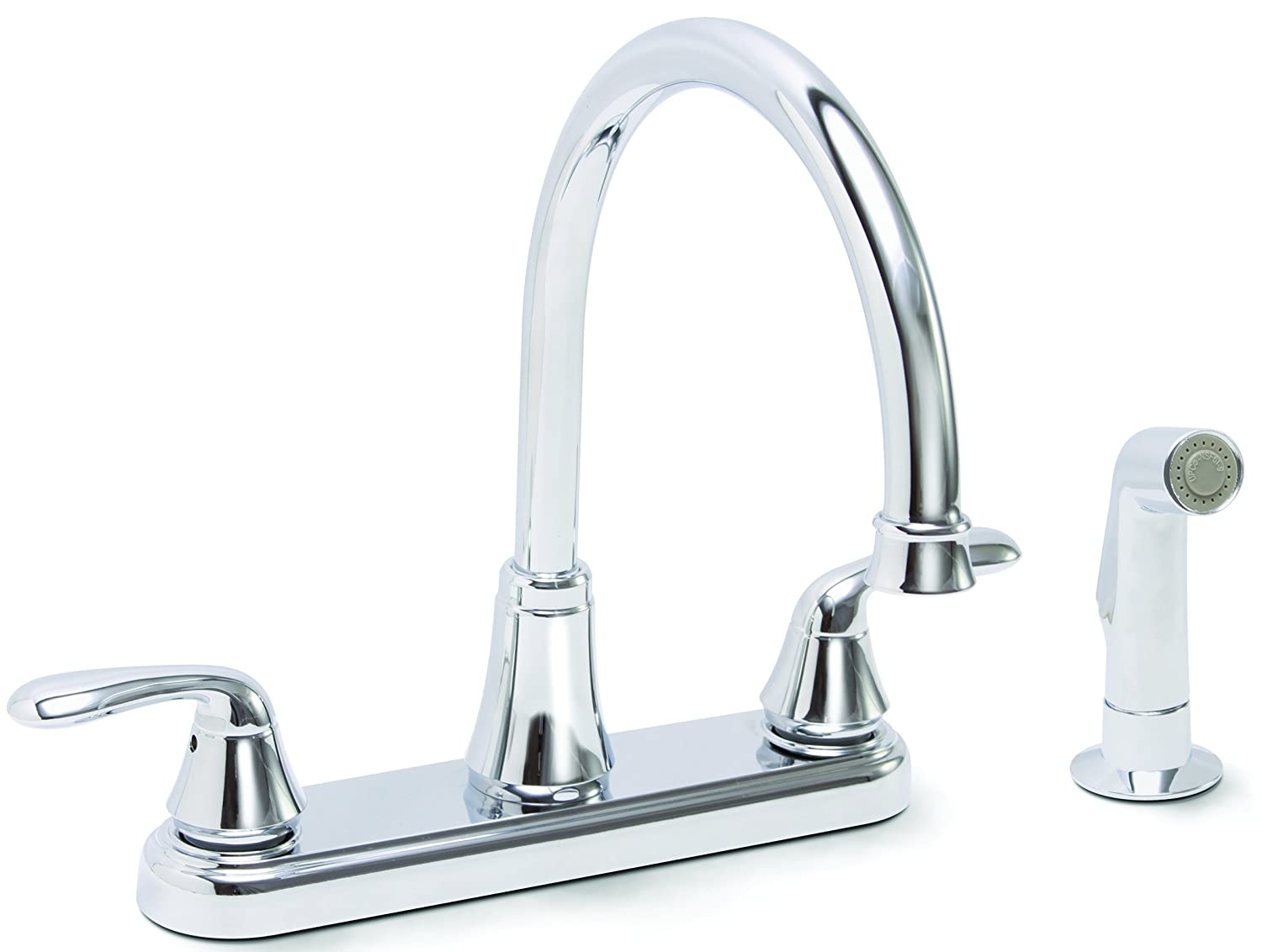 Premier 126967 Waterfront Kitchen Faucet With Two Handles And Side Spray,  Chrome, Lead Free   Touch On Kitchen Sink Faucets   Amazon.com