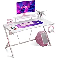 Motpk 40 Inch Gaming Desk with Monitor Shelf