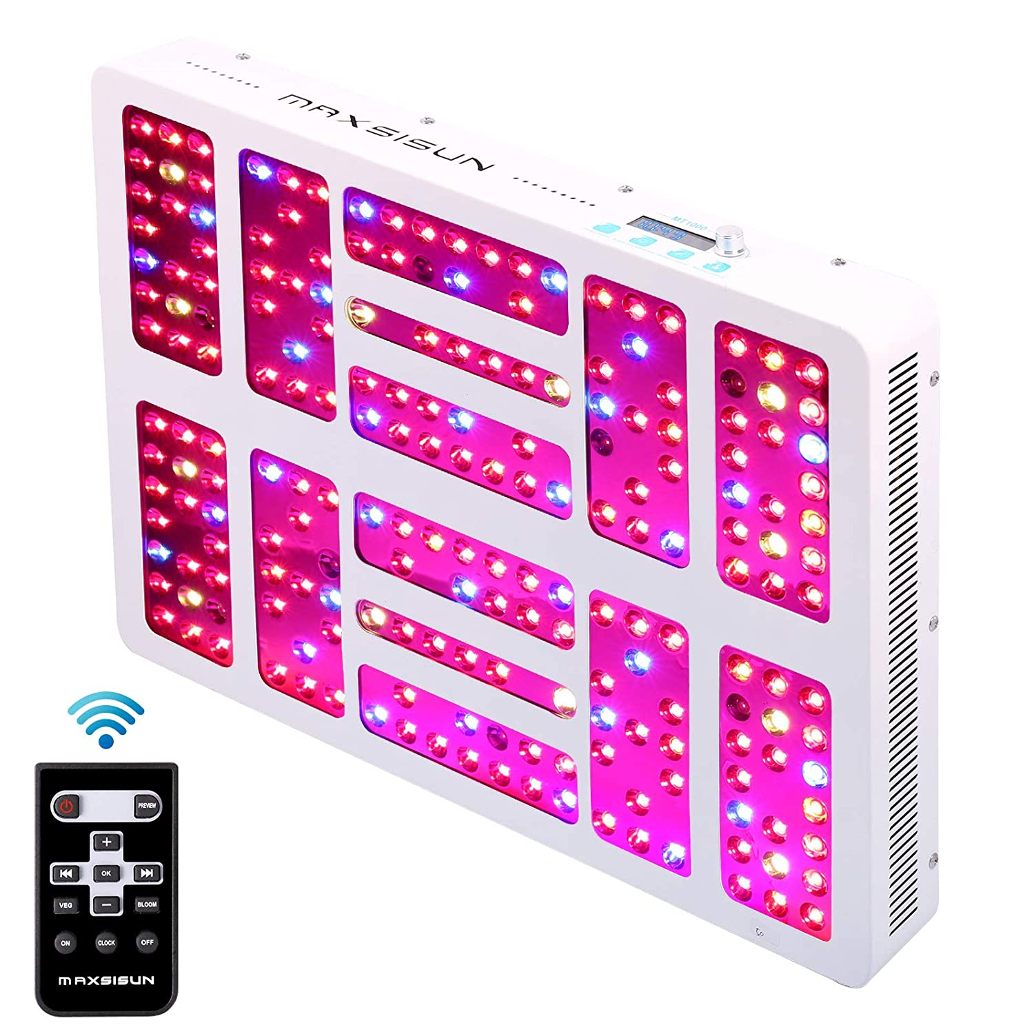 MAXSISUN timer control 1000w LED grow light