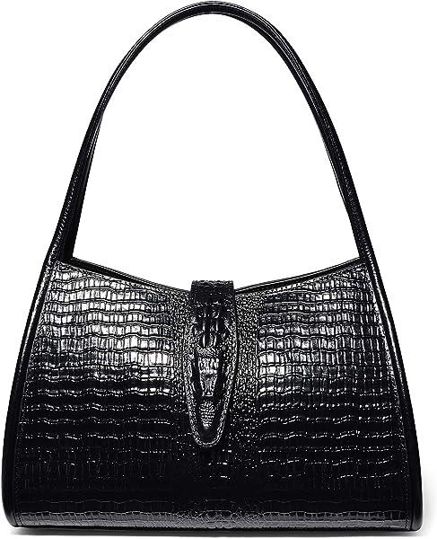 99653b62643b PIJUSHI Designer Shoulder Purses Hobo Handbags for Women Leather Tote  Shoulder Bags (68022 Black)