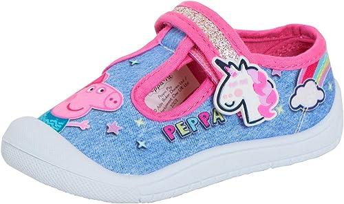 Peppa Pig Girls Canvas Pumps Kids Easy