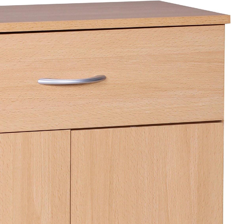Mobiletto 60 x 75 cm Wohnling WL1.335 con 2 sportelli e 1 cassetto legno di faggio
