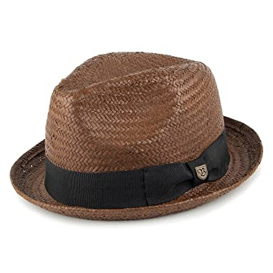 Brixton Gorros Gorro de Trilby de paja de castor, color marrón ...