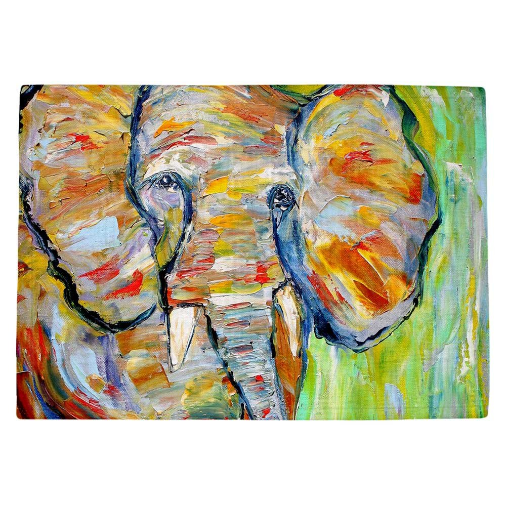 DIANOCHEキッチンPlaceマットby Karen Tarlton – Wild Elephant Set of 4 Placemats PM-KarenTarlWildElephant2 Set of 4 Placemats  B01EXSIITY